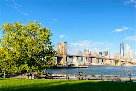 View of Downtown Manhattan skyline with Brooklyn Bridge and Freedom Tower, New York City, New York, USA Stock Photo - Rights-Managed, Code: 700-07310877