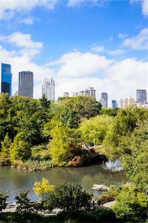 View of Gapstow Bridge with highrise buildings in background, Central Park, Midtown Manhattan, New York City, New York, USA Stock Photo - Rights-Managed, Code: 700-07310891