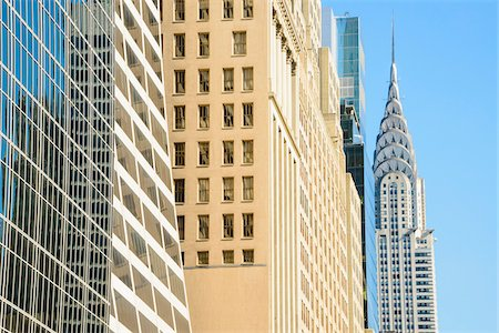 Close-up of highrise buildings with Chrysler Building, Manhattan, New York City, New York, USA Stock Photo - Rights-Managed, Code: 700-07310903