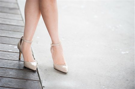 Close-up of Women's Legs wearing High Heel Shoes Stock Photo - Rights-Managed, Code: 700-07363846