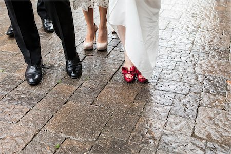 Feet of Bride and Groom, Toronto, Ontario, Canada Stock Photo - Rights-Managed, Code: 700-07435015