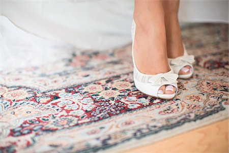 Close-up of Bride's Feet, Toronto, Ontario, Canada Stock Photo - Rights-Managed, Code: 700-07435017
