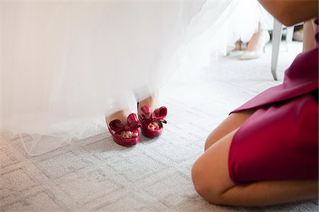 Bride's Feet, Toronto, Ontario, Canada Stock Photo - Rights-Managed, Code: 700-07435011