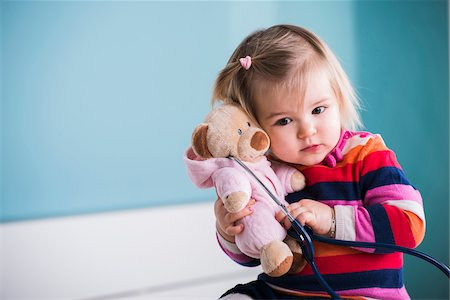 Portrait of Baby Girl in Doctor's Office Stock Photo - Rights-Managed, Code: 700-07453697