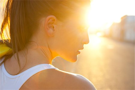Close-up of young woman in sunlight, Portland, Oregon, USA Stock Photo - Rights-Managed, Code: 700-07453768