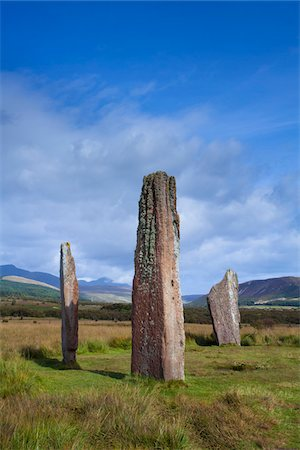 Prehistoric stone circle on Machrie Moor, on the autumn equinox, Isle of Arran, North Ayrshire, Scotland Stock Photo - Rights-Managed, Code: 700-07487329