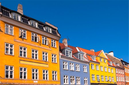 Colourful Buildings, Nyhavn, Copenhagen, Denmark Stock Photo - Rights-Managed, Code: 700-07487358