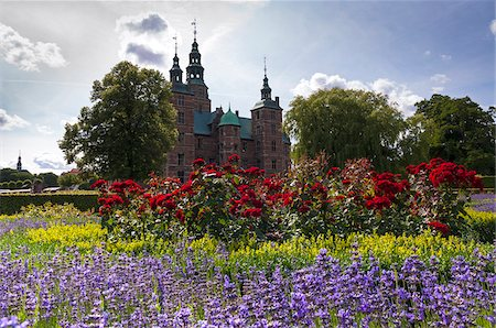 King's Garden at Rosenborg Castle, Copenhagen, Denmark Stock Photo - Rights-Managed, Code: 700-07487378