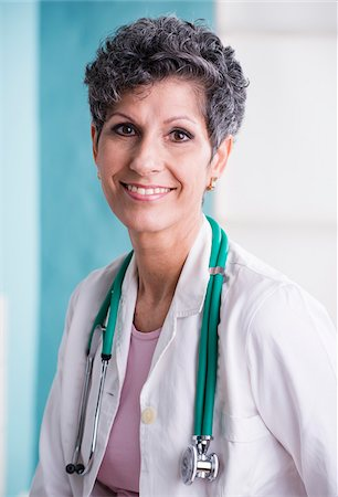 Portrait of Doctor with Stethoscope in Doctor's Office Stock Photo - Rights-Managed, Code: 700-07487614
