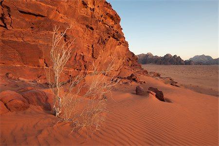 Desert at sunset, Wadi Rum, Jordan Stock Photo - Rights-Managed, Code: 700-07487677
