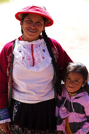 south american woman - Portrait of mother and daughter community weavers, G Adventures Planeterra, Sacred Valley, Peru Stock Photo - Rights-Managed, Code: 700-07529094