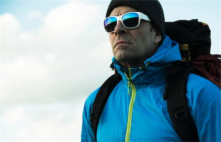 Portrait of Mountaineer, Mannheim, Baden-Wurttemberg, Germany Stock Photo - Rights-Managed, Code: 700-07562393