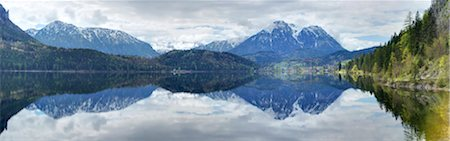 scenic view - Panoramic, scenic view of Lake Altaussee and mountains in spring, Styria, Austrai Stock Photo - Rights-Managed, Code: 700-07584685