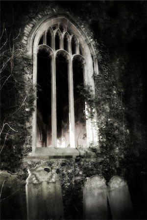 Derelict overgrown church, Norfolk, England. Stock Photo - Rights-Managed, Code: 700-07584744