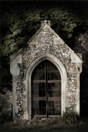 Derelict overgrown church, Norfolk, England. Stock Photo - Rights-Managed, Code: 700-07584743