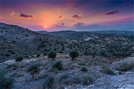 south european - View of countryside near Pitsidia, Crete, Greece. Stock Photo - Rights-Managed, Code: 700-07608380