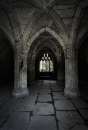 Valle Crucis Abbey, North Wales. Interior of the Chapter House. Stock Photo - Rights-Managed, Code: 700-07672286
