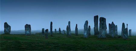 Callanish Standing Stones in fog, Isle of Lewis, Hebrides, Scotland. Stock Photo - Rights-Managed, Code: 700-07672294
