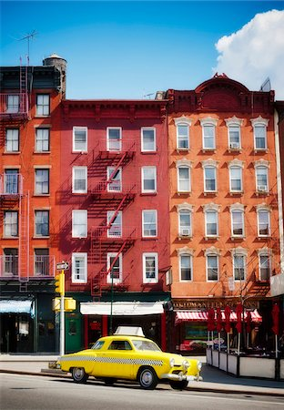 red - Traditional red brick buildings and old car in the trendy Chelsea district, Manhattan, New York City, NY, USA Stock Photo - Rights-Managed, Code: 700-07698669