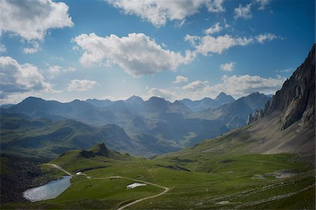 View of Italian Alps mountains from Del Mulo Pass in summer, Italy Stock Photo - Rights-Managed, Code: 700-07698674