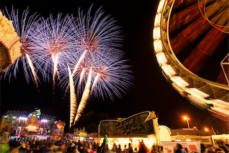 Fireworks at Public Festival at Night, Neumarkt in der Oberpfalz, Upper Palatinate, Bavaria, Germany Stock Photo - Rights-Managed, Code: 700-07708357