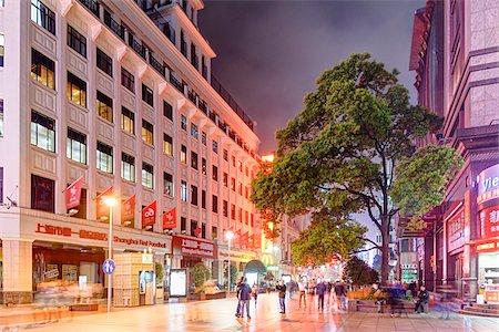 street - Major Pedestrian and Shopping Street at night, Nanjing Road, Nanjing Lu, Shanghai, Shanghai Shi, Zhonghua, China Stock Photo - Rights-Managed, Code: 700-07745000