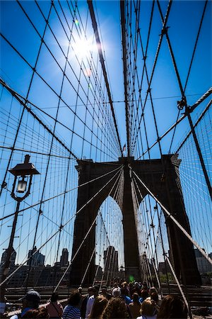 Brooklyn Bridge, New York City, New York, USA Stock Photo - Rights-Managed, Code: 700-07745115