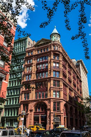 Building on Street Corner, New York City, New York, USA Stock Photo - Rights-Managed, Code: 700-07745146