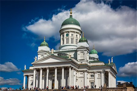 square - Helsinki Lutheran Cathedral in Senate Square, Helsinki, Finland Stock Photo - Rights-Managed, Code: 700-07760125