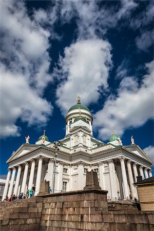 square - Helsinki Lutheran Cathedral in Senate Square, Helsinki, Finland Stock Photo - Rights-Managed, Code: 700-07760126