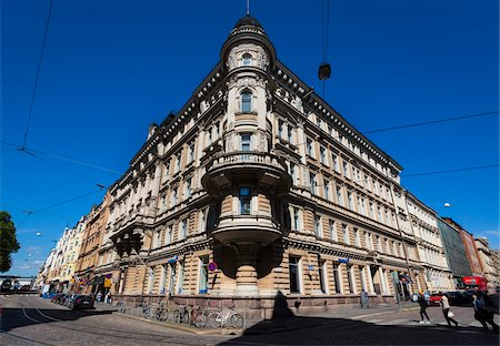 Facade of building in the National Romantic style, Design District Helsinki, Helsinki, Finland Stock Photo - Rights-Managed, Code: 700-07760120