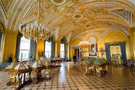 The Gold Drawing Room, The Hermitage Museum, St. Petersburg, Russia Stock Photo - Rights-Managed, Code: 700-07760139