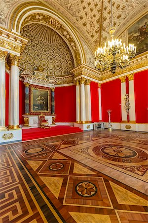 Small Throne Room, The Hermitage, St. Petersburg, Russia Stock Photo - Rights-Managed, Code: 700-07760147