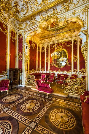 Crimson Room (The Boudoir), The Hermitage Museum, St. Petersburg, Russia Stock Photo - Rights-Managed, Code: 700-07760140