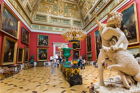 Malachite Room, The Hermitage Museum, St. Petersburg, Russia Fotografie stock - Rights-Managed, Codice: 700-07760156