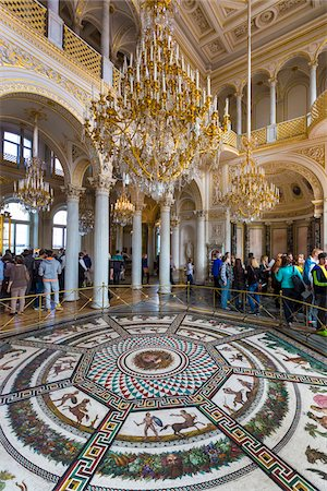 Small Pavilion Hall, The Hermitage, St. Petersburg, Russia Stock Photo - Rights-Managed, Code: 700-07760151