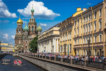 The Griboyedov Canal and the Church on Spilled Blood, St. Petersburg, Russia Photographie de stock - Rights-Managed, Code: 700-07760198