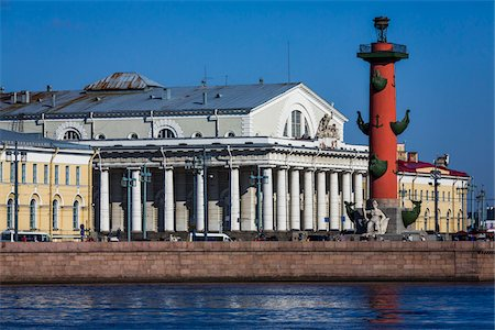 Rostral Column in the Strelka, St. Petersburg, Russia Stock Photo - Rights-Managed, Code: 700-07760237