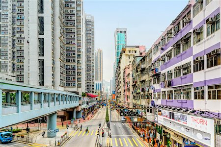 Crowded Suburb, Tsuen Wan District, New Territories, Hong Kong, China Stock Photo - Rights-Managed, Code: 700-07760265