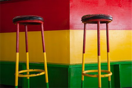 Red, Yellow and Green Bar Stools in Red, Yellow and Green Bar, Mirissa, Sri Lanka Stock Photo - Rights-Managed, Code: 700-07784160