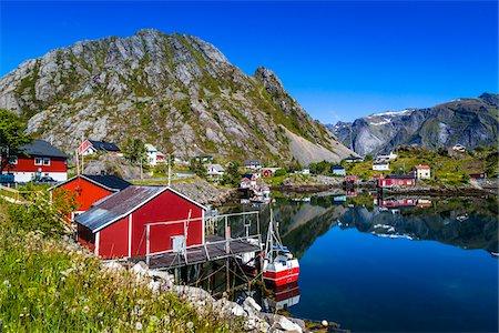 Sund, Flakstad, Flakstadoya, Lofoten Archipelago, Norway Stock Photo - Rights-Managed, Code: 700-07784316