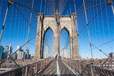 Brooklyn Bridge, New York City, New York, USA Stock Photo - Rights-Managed, Code: 700-07784346