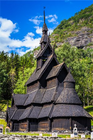 stave - Borgund Stave Church, Borgund, Sogn og Fjordane, Norway Stock Photo - Rights-Managed, Code: 700-07784669