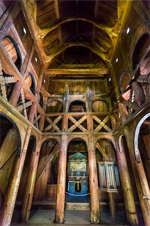 stave - Interior of Borgund Stave Church, Borgund, Sogn og Fjordane, Norway Stock Photo - Rights-Managed, Code: 700-07784674