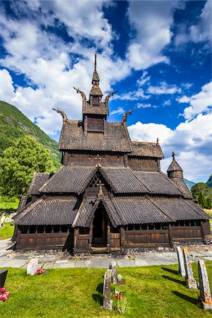 stave - Borgund Stave Church, Borgund, Sogn og Fjordane, Norway Stock Photo - Rights-Managed, Code: 700-07784670