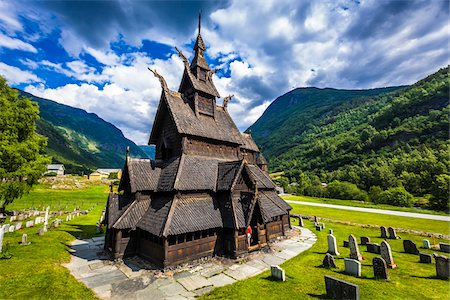 stave - Borgund Stave Church, Borgund, Sogn og Fjordane, Norway Stock Photo - Rights-Managed, Code: 700-07784671