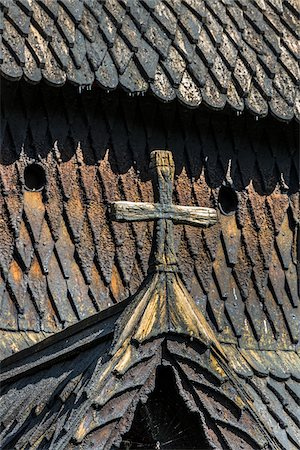 stave - Architectural Detail of Borgund Stave Church, Borgund, Sogn og Fjordane, Norway Stock Photo - Rights-Managed, Code: 700-07784672