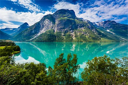 Lovatnet, Sogn og Fjordane, Norway Stock Photo - Rights-Managed, Code: 700-07784706