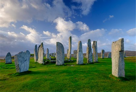 Callanish Stone Circle, a famous neolithic monument located on the Isle of Lewis in the chain of islands known as the Outer Hebrides, Scotland Stock Photo - Rights-Managed, Code: 700-07783744