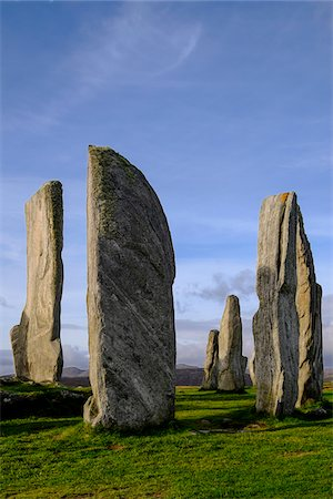 Callanish Stone Circle, a famous neolithic monument located on the Isle of Lewis in the chain of islands known as the Outer Hebrides, Scotland Stock Photo - Rights-Managed, Code: 700-07783741